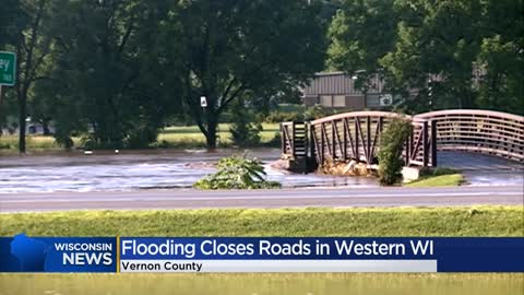 Flooding causes road closures in parts of Vernon County